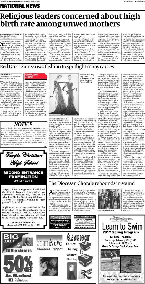The Nassau Guardian - February 21, 2012